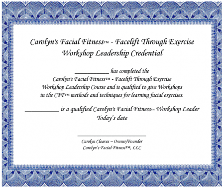 Facial Exercise Workshop Trainer Certificate